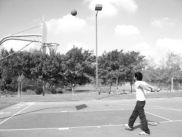 Shooting Basketball